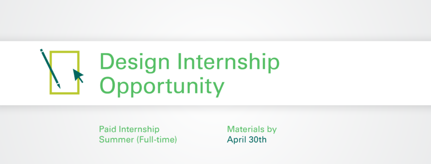 Design Internship details graphic