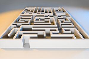 Rendering of maze