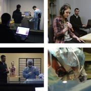 Picture: Grid of different images showing usability testing
