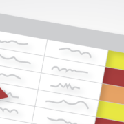 Illustration of risk assessment with caution icons